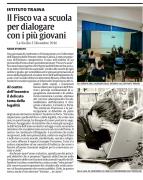 Il Fisco va a scuola per dialogare con i più giovani